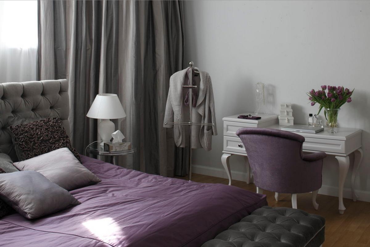 Спальня в  цветах:   Белый, Светло-серый, Темно-зеленый, Черный.  Спальня в  стиле:   Классика.
