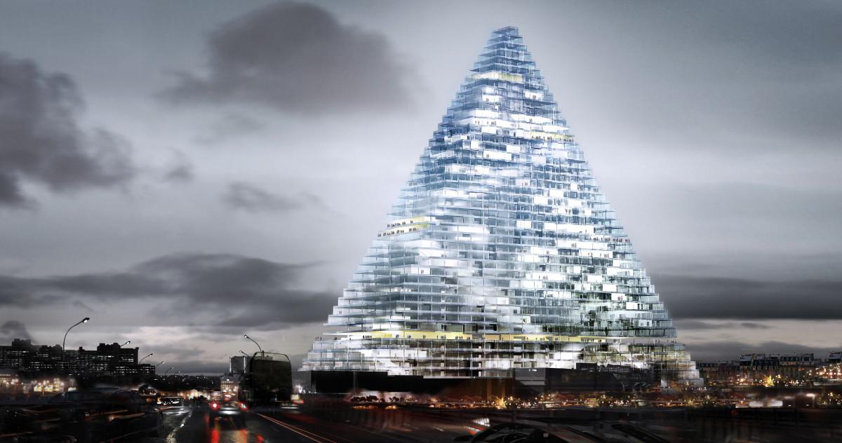 Стеклянной пирамиде на юге Парижа быть!