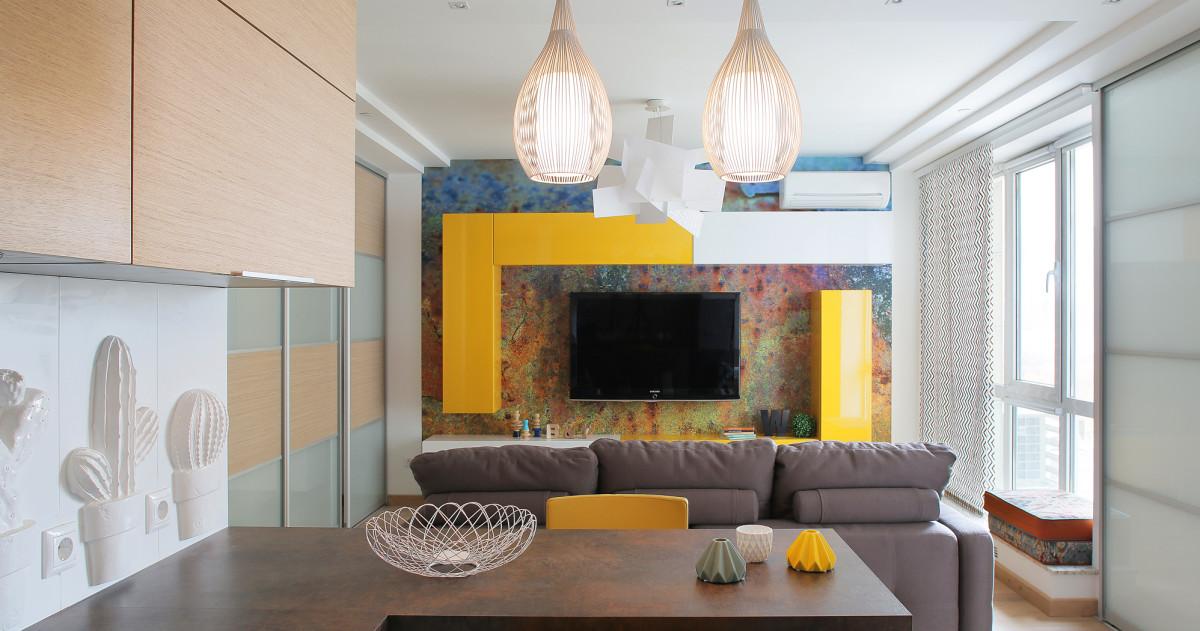 Ремонт за 4 месяца: 45-метровая квартира с видом на Москва-Сити