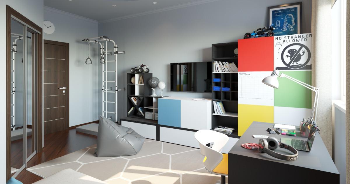 Как обустроить комнату для мальчика: яркий пример из Москвы