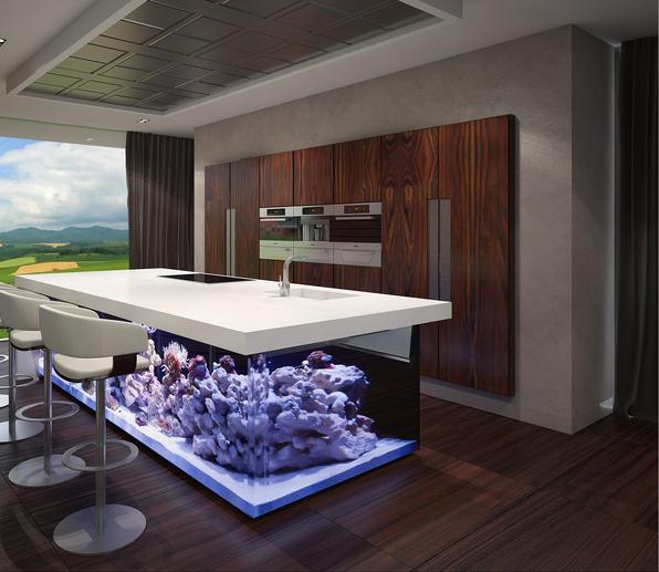 Кухня/столовая в  цветах:   Белый, Коричневый, Серый, Темно-коричневый.  Кухня/столовая в  стиле:   Минимализм.