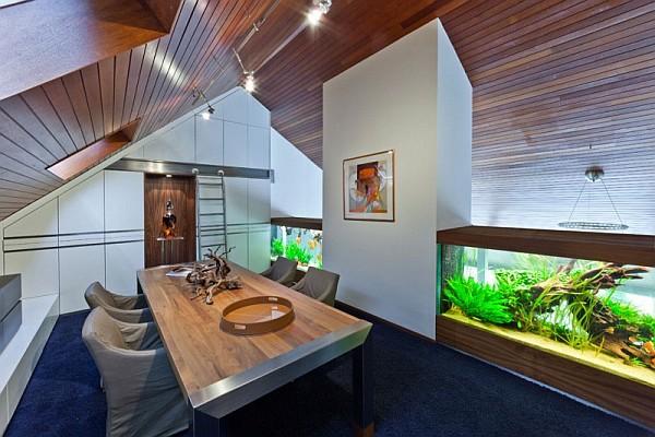 Кухня/столовая в  цветах:   Бирюзовый, Коричневый, Серый, Темно-зеленый.  Кухня/столовая в  стиле:   Минимализм.