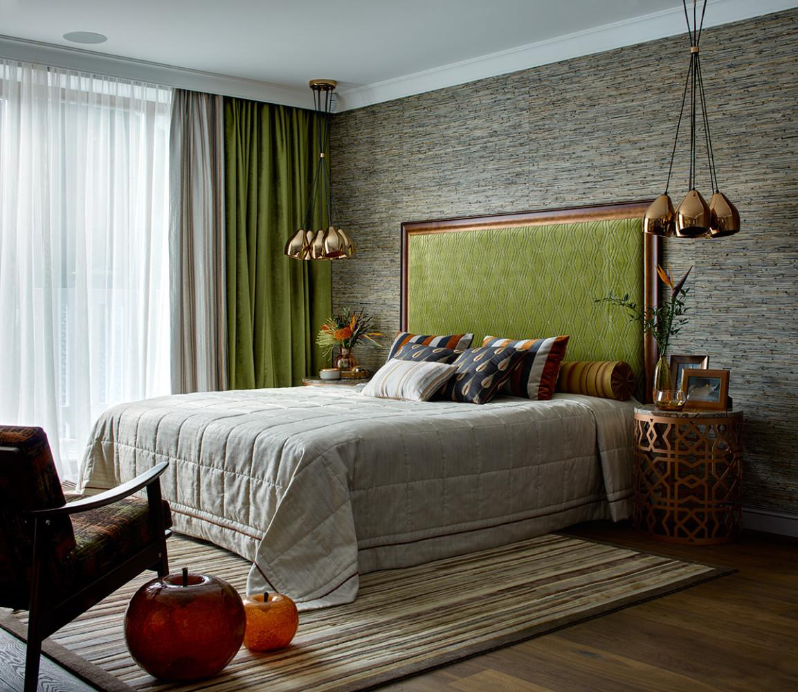 Спальня в  цветах:   Бежевый, Бирюзовый, Голубой, Светло-серый.  Спальня в  стиле:   Восточные стили.