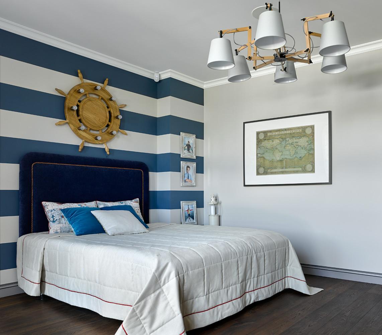 Спальня в  цветах:   Бежевый, Коричневый, Розовый, Синий, Сиреневый.  Спальня в  стиле:   Минимализм.