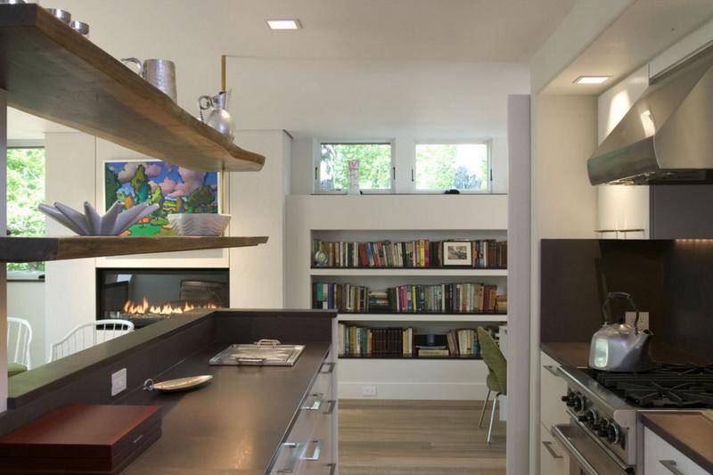 Кухня/столовая в  цветах:   Бежевый, Светло-серый, Серый, Темно-коричневый.  Кухня/столовая в  стиле:   Минимализм.