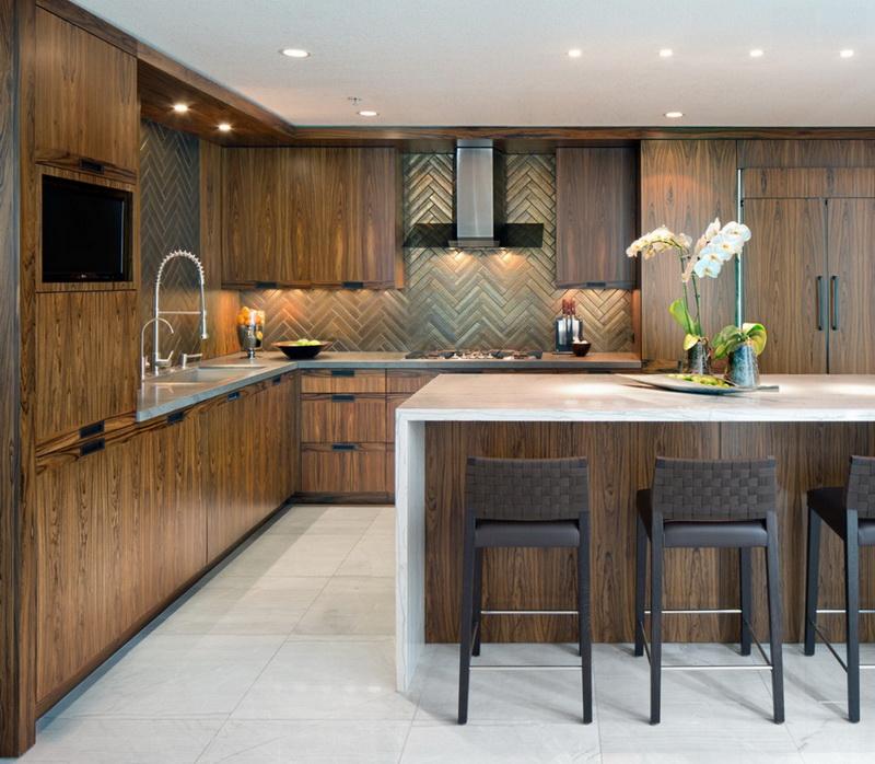 Кухня/столовая в  цветах:   Коричневый, Светло-серый, Серый, Темно-зеленый.  Кухня/столовая в  стиле:   Минимализм.