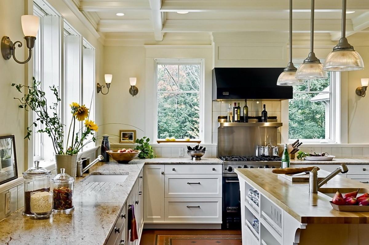 Кухня без верхних шкафов: плюсы и минусы