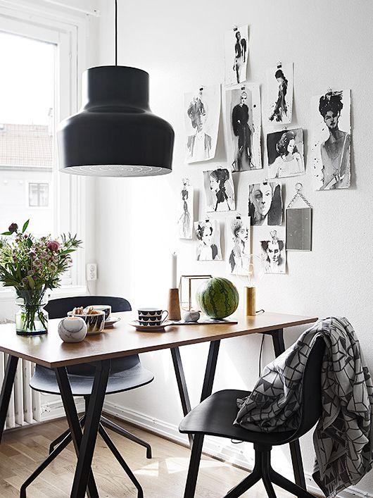 Кухня/столовая в  цветах:   Белый, Коричневый, Светло-серый.  Кухня/столовая в  стиле:   Скандинавский.