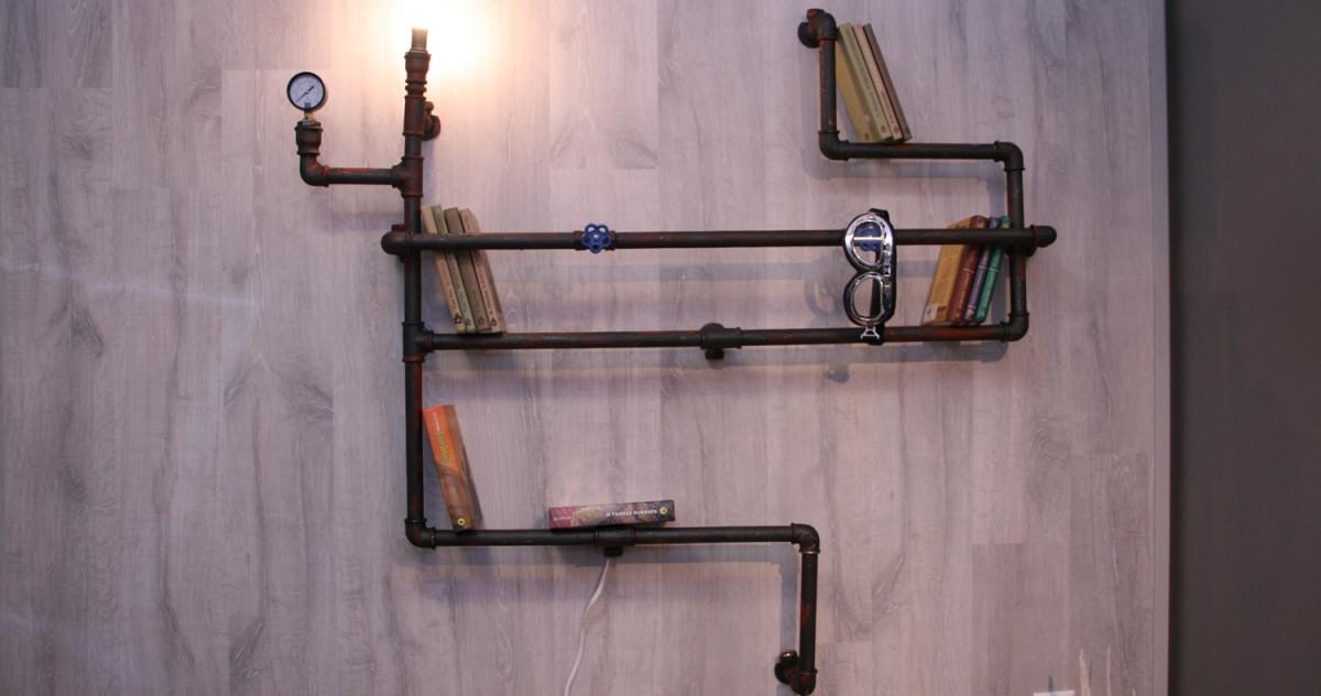 15 способов использования труб в декоре интерьера: от лофта до стимпанка