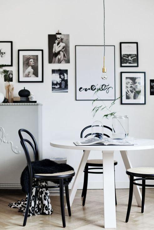 Кухня/столовая в  цветах:   Белый, Коричневый, Серый, Черный.  Кухня/столовая в  стиле:   Скандинавский.