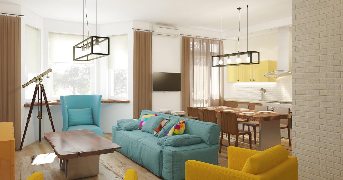 Интерьер в стиле лофт: квартира для адвоката и его семьи