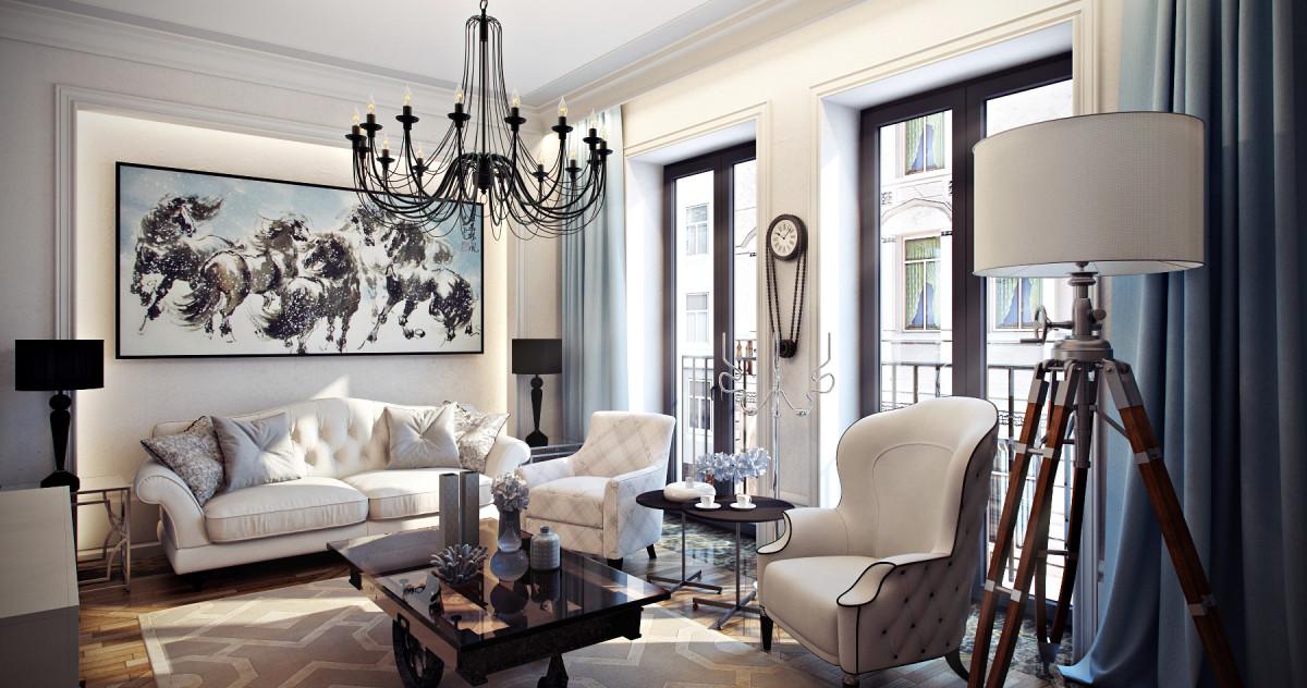Красивая и элегантная квартира для семьи врача