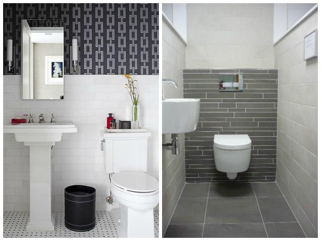 Туалет в цветах: черный, серый, светло-серый, коричневый. Туалет в .