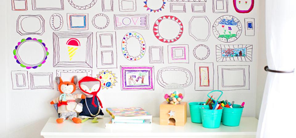 На стенах нужно рисовать: как сделать обои-раскраски для детской