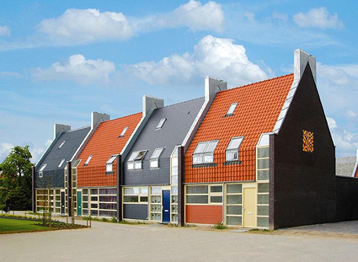 Архитектура в цветах: оранжевый, голубой, черный, серый, светло-серый. Архитектура в .
