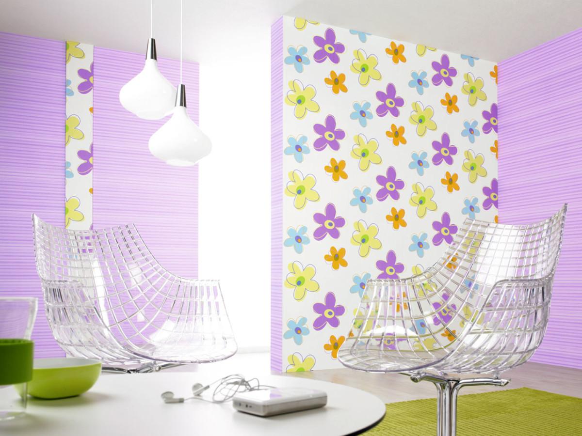 Декор в цветах: светло-серый, салатовый, сиреневый. Декор в стиле эклектика.