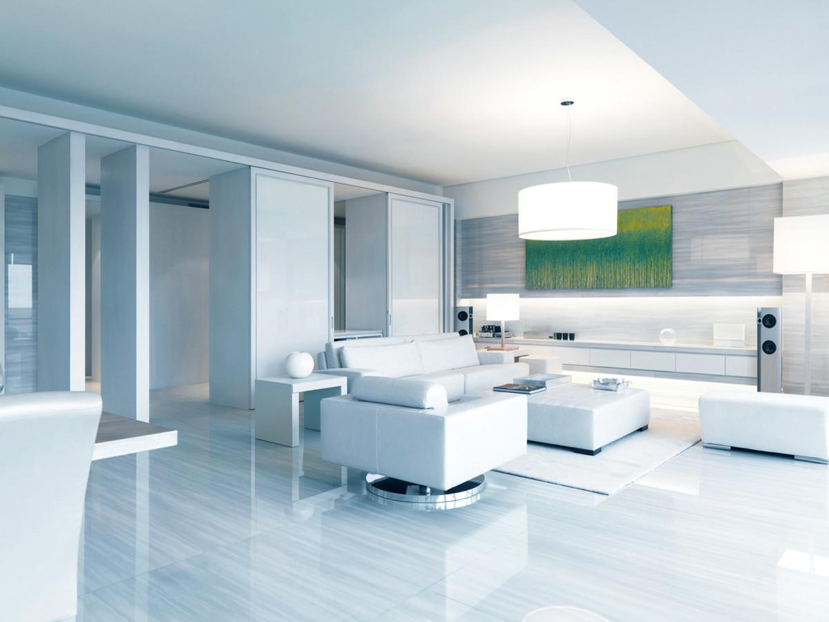 Гостиная, холл в цветах: светло-серый, белый. Гостиная, холл в стиле минимализм.
