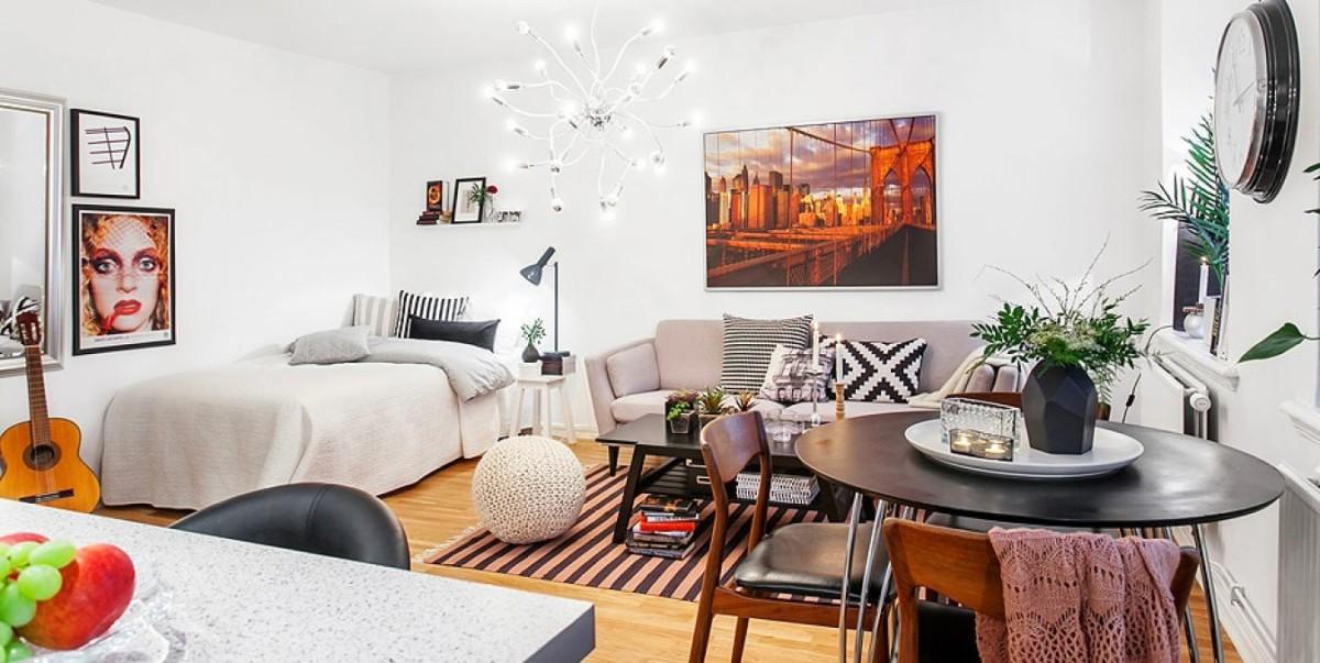 Гостиная, холл в цветах: серый, светло-серый, коричневый, бежевый. Гостиная, холл в стиле скандинавский стиль.