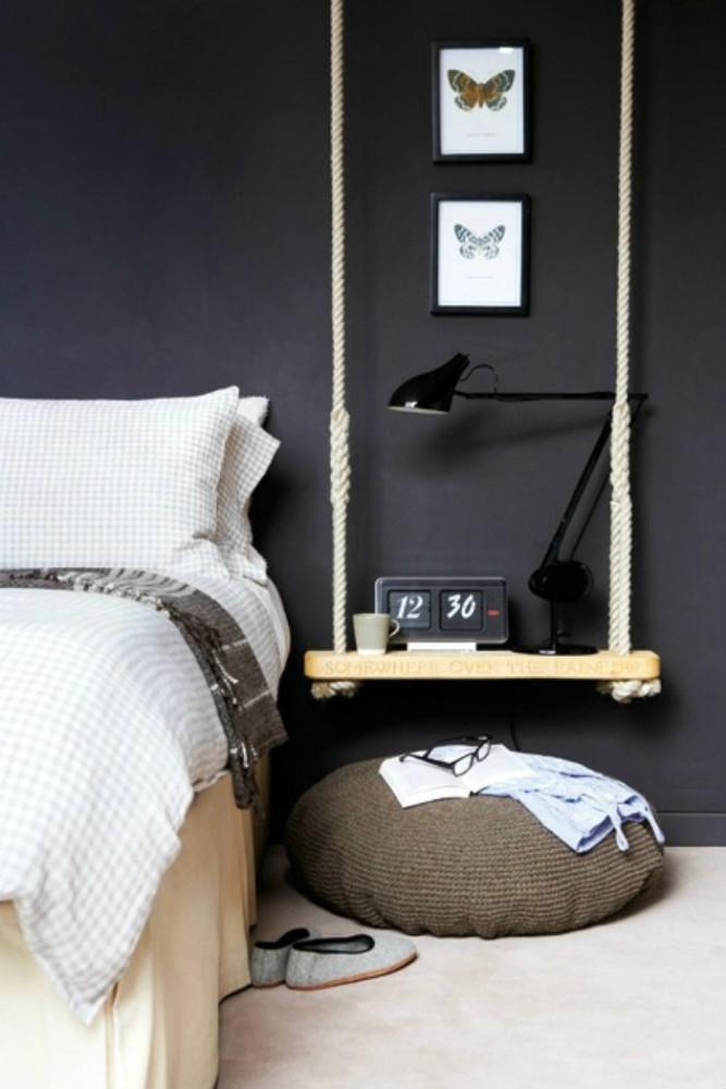Мебель и предметы интерьера в цветах: черный, серый, светло-серый, белый. Мебель и предметы интерьера в стиле экологический стиль.