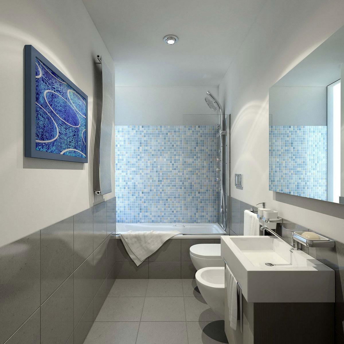 дизайн ванной комнаты 3.5 кв.м в одном цвете фото без туалета