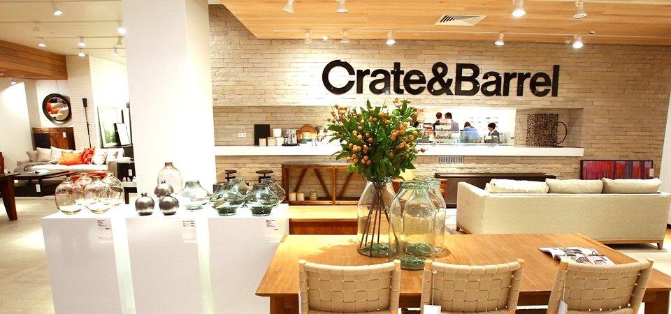Как сделать магазин похожим на жилой интерьер: Crate & Barrel в России