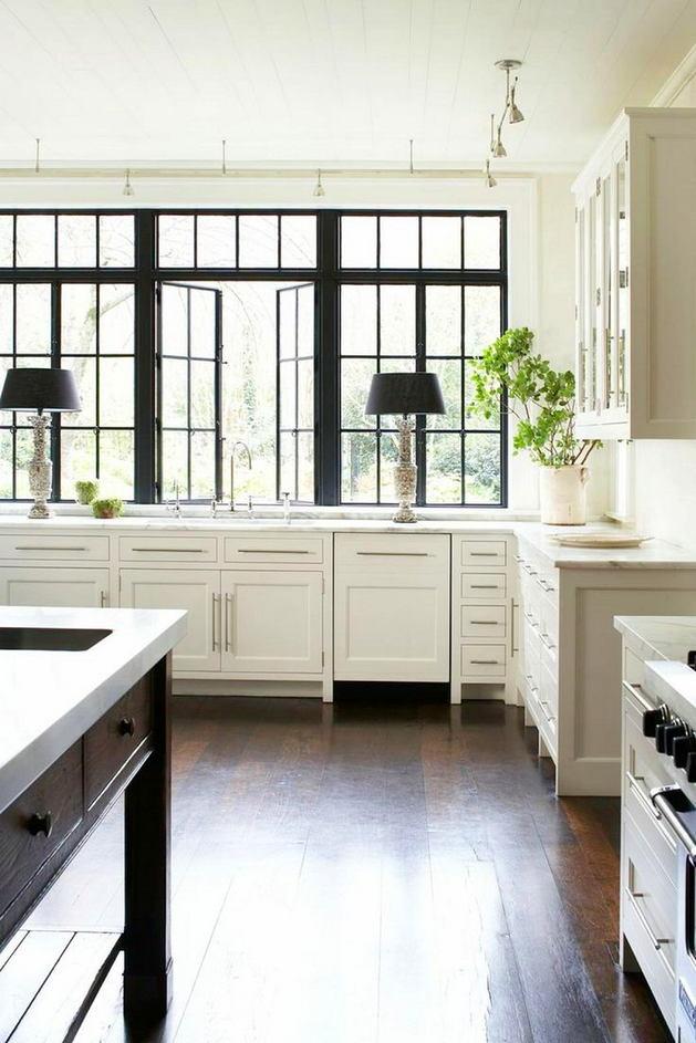 Кухня в цветах: черный, серый, светло-серый, белый. Кухня в .