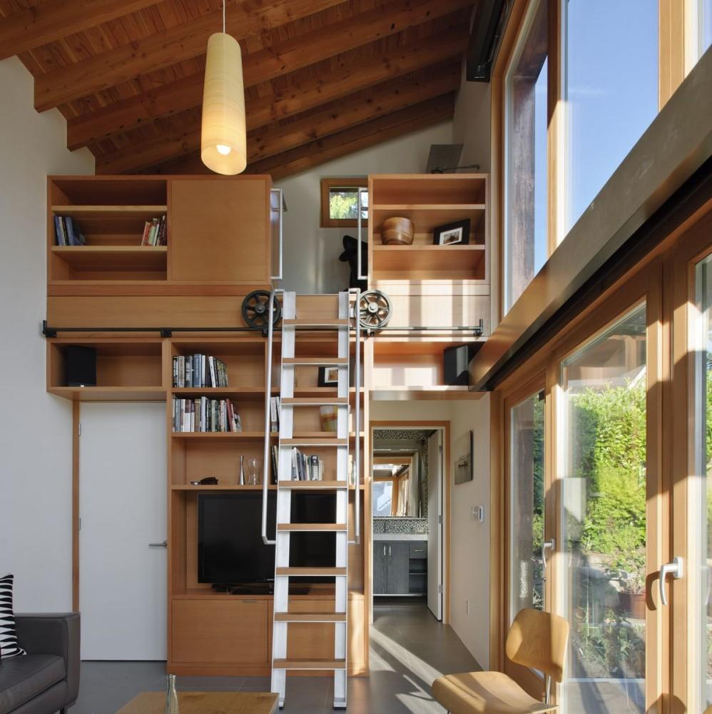 Архитектура в цветах: серый, светло-серый, темно-коричневый, коричневый. Архитектура в стиле минимализм.