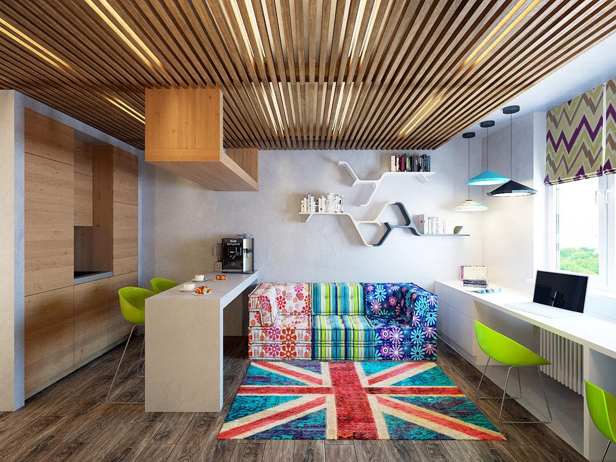 Гостиная, холл в цветах: серый, светло-серый, белый, коричневый. Гостиная, холл в стилях: лофт, экологический стиль.
