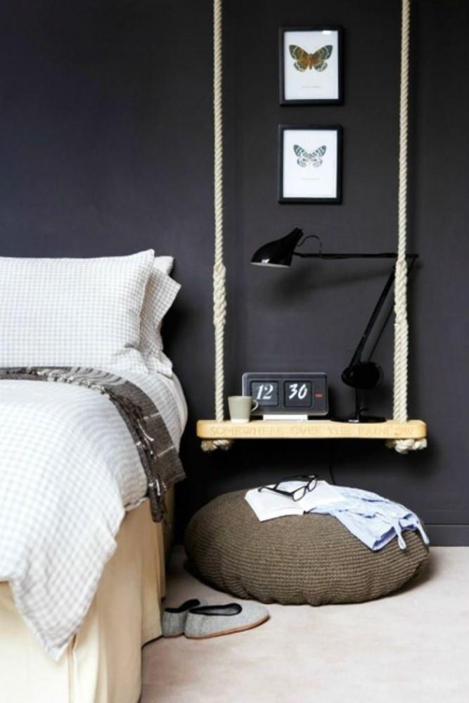 Мебель и предметы интерьера в цветах: черный, серый, светло-серый, белый. Мебель и предметы интерьера в стилях: скандинавский стиль, эклектика.