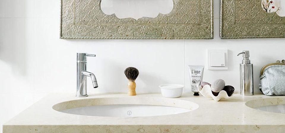 Современная ванная комната с элементами восточного стиля