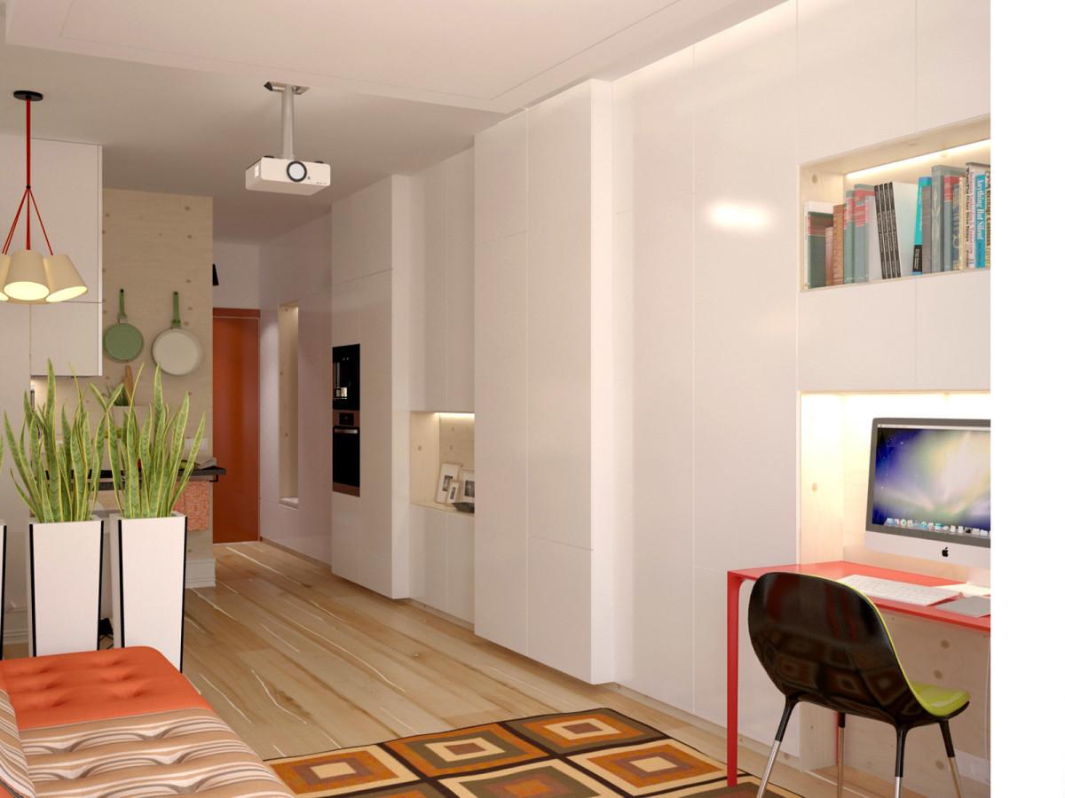 Гостиная, холл в цветах: белый, бежевый. Гостиная, холл в стиле минимализм.