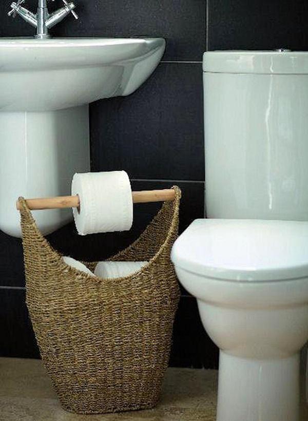Туалет в цветах: бирюзовый, черный, серый, белый. Туалет в стиле эклектика.