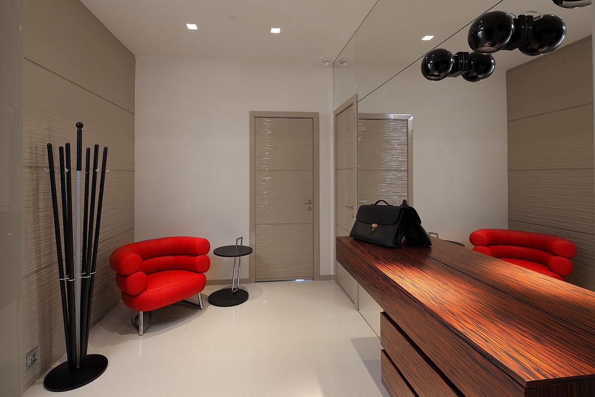 Мебель и предметы интерьера в цветах: черный, серый, светло-серый, темно-коричневый, коричневый. Мебель и предметы интерьера в стиле минимализм.