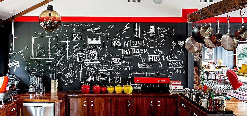 Давайте рисовать мелом, или Как использовать грифельную доску в интерьере: 8 вдохновляющих идей и примеры