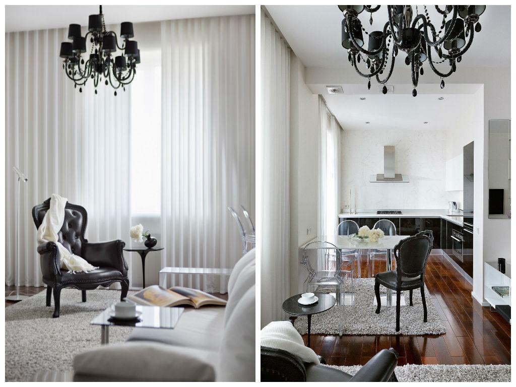 Гостиная, холл в цветах: черный, серый, светло-серый, темно-коричневый. Гостиная, холл в стиле минимализм.
