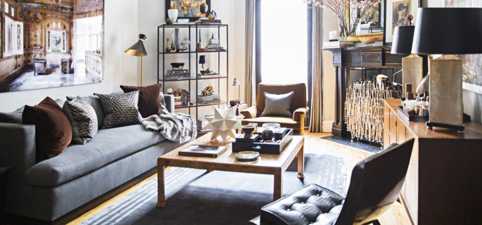 Гламур – выбор настоящих мужчин: квартира дизайнера в строгой и эффектной вариации самого блестящего из стилей