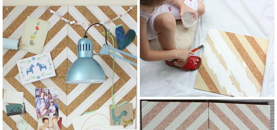 Декор своими руками: доска для хранения мелочей из пробковой плитки