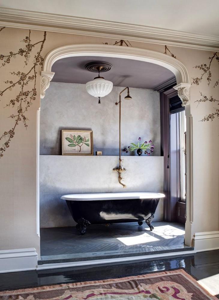 Мебель и предметы интерьера в цветах: черный, серый, светло-серый, белый. Мебель и предметы интерьера в стиле модерн и ар-нуво.