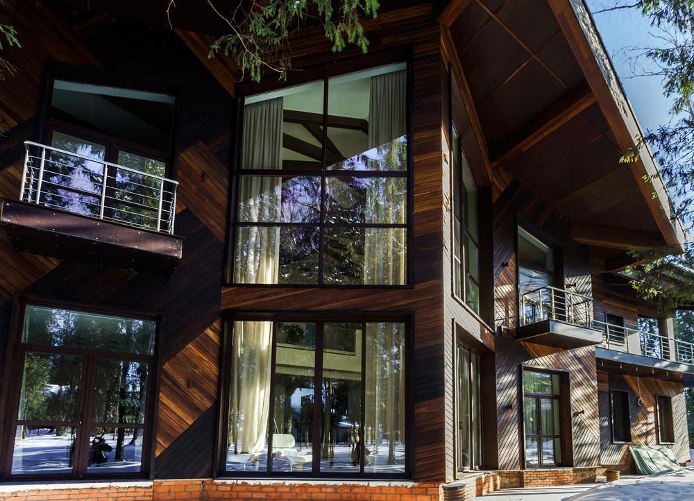 Архитектура в цветах: серый, темно-зеленый, темно-коричневый, бежевый. Архитектура в стиле модерн и ар-нуво.