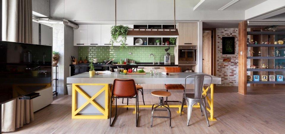 Уютный интерьер для молодой семьи — 122 метра и огромная кухня