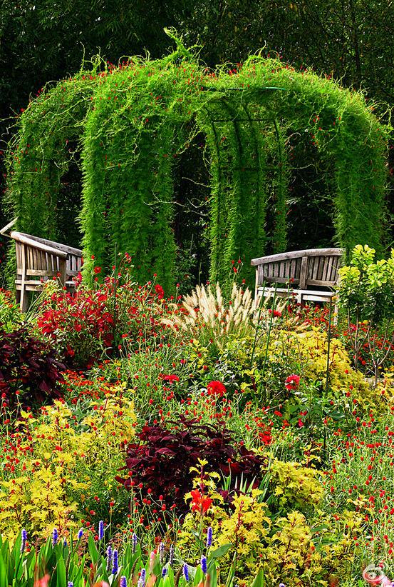 Ландшафт в цветах: темно-зеленый, коричневый, бежевый. Ландшафт в .