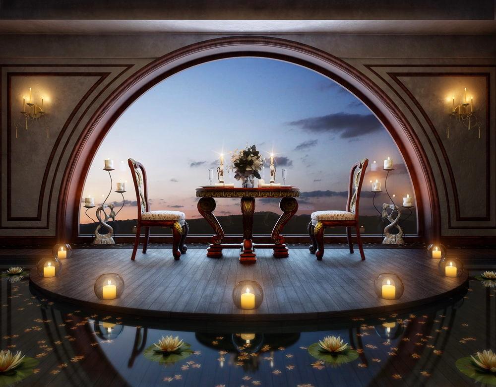 Балкон, веранда, патио в цветах: серый, светло-серый, темно-коричневый. Балкон, веранда, патио в стиле классика.