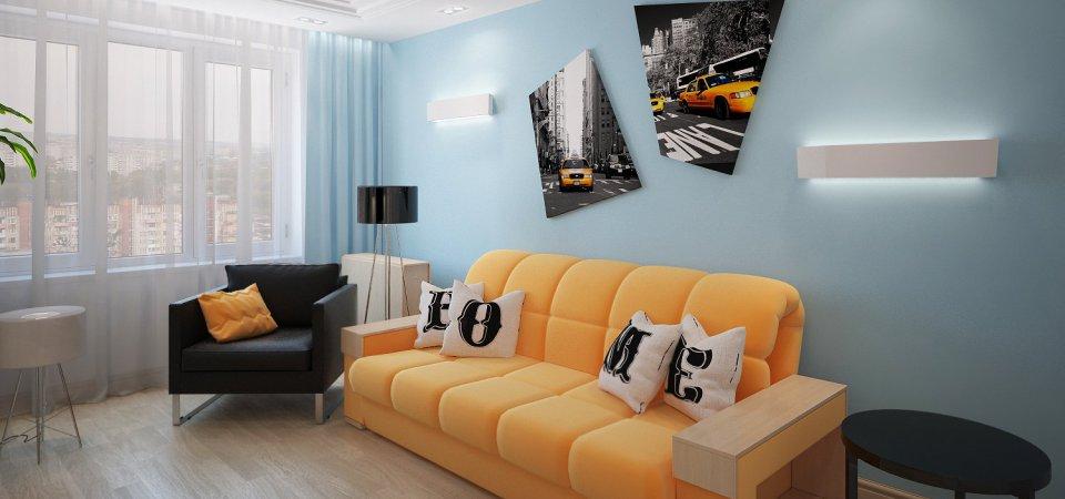 Как бюджетно оформить гостиную площадью 14 метров: пример с советами и ценами