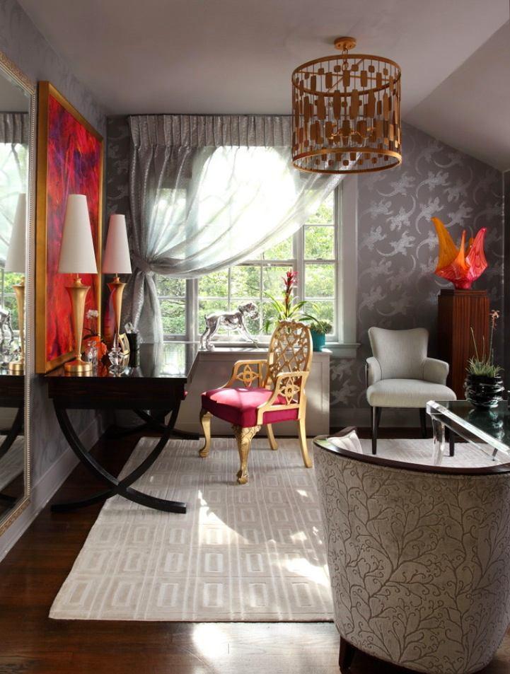 Мебель и предметы интерьера в цветах: черный, серый, светло-серый. Мебель и предметы интерьера в стиле арт-деко.