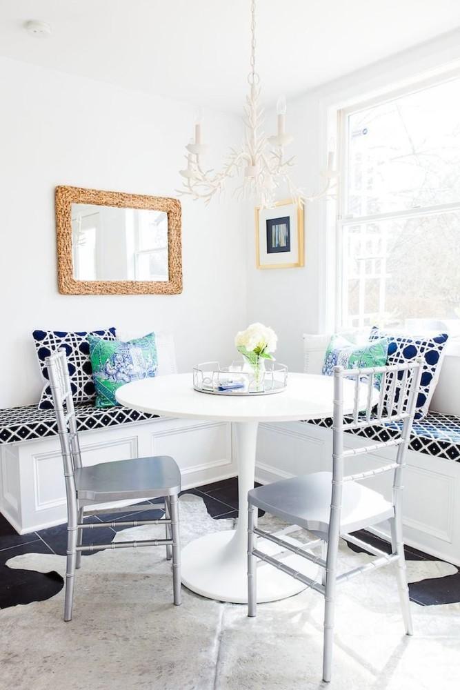 Кухня в цветах: серый, светло-серый, сине-зеленый, бежевый. Кухня в стиле эклектика.