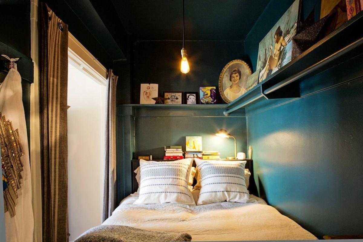 Спальня в цветах: бирюзовый, серый, светло-серый, коричневый, бежевый. Спальня в стилях: прованс, скандинавский стиль, эклектика.