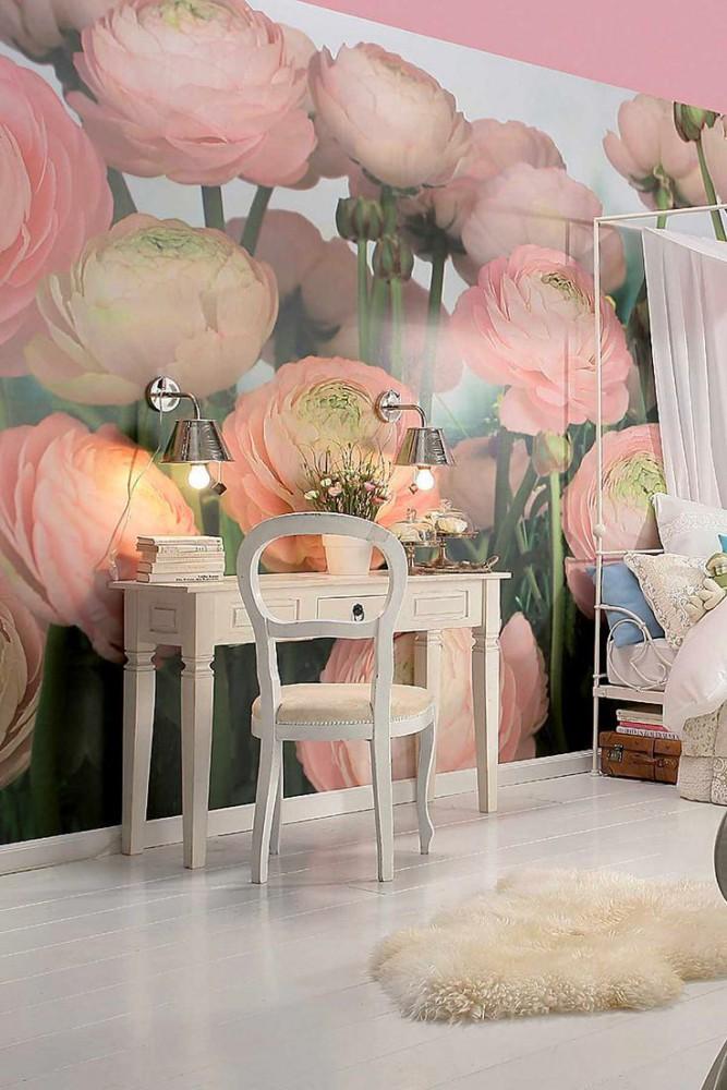 Спальня в цветах: желтый, серый, светло-серый, бежевый. Спальня в стиле экологический стиль.