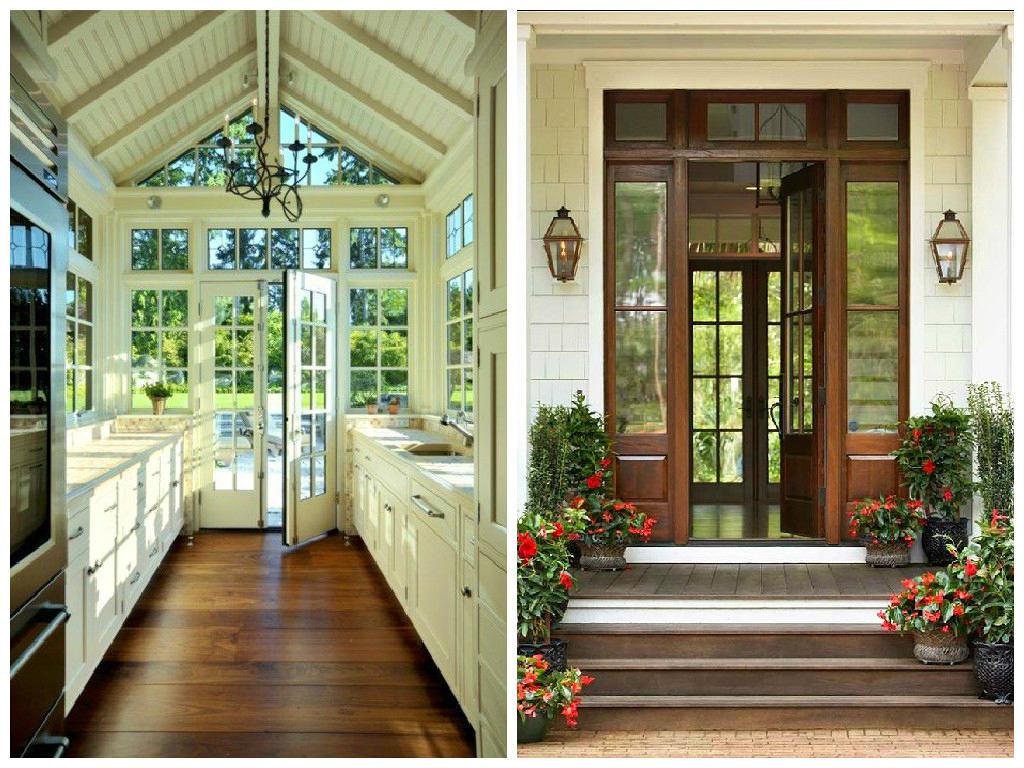 Архитектура в цветах: светло-серый, темно-зеленый, коричневый, бежевый. Архитектура в стилях: классика, экологический стиль.