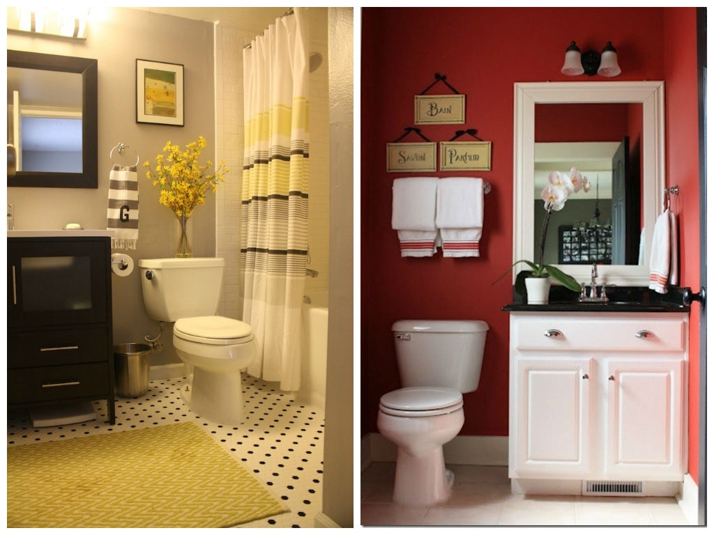 Туалет в цветах: светло-серый, бордовый, темно-коричневый, бежевый. Туалет в .