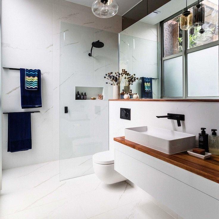 Туалет в цветах: черный, серый, белый, темно-коричневый. Туалет в стиле скандинавский стиль.